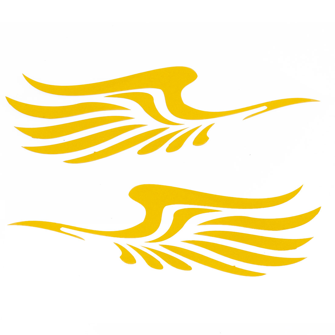 Pair Wings Shape Yellow Decal Sticker for Van Car Truck