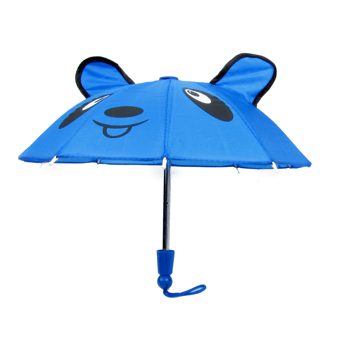 Children Panda Print Foldable Metal Frame Blue Mini Umbrella Toy