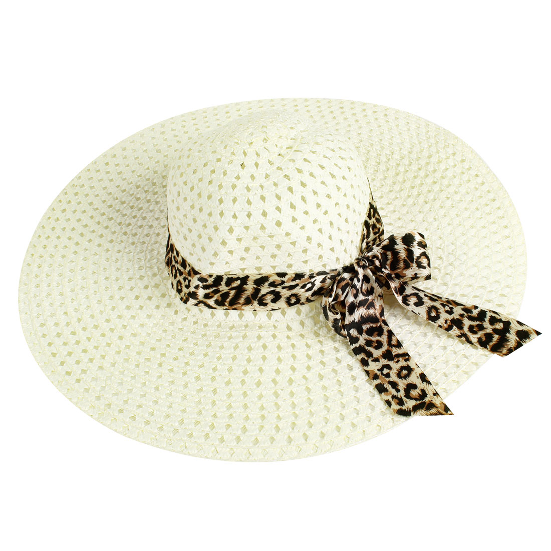 Black Brown Bowknot Strap Hollow Out Design White Beige Sun Hat for Lady