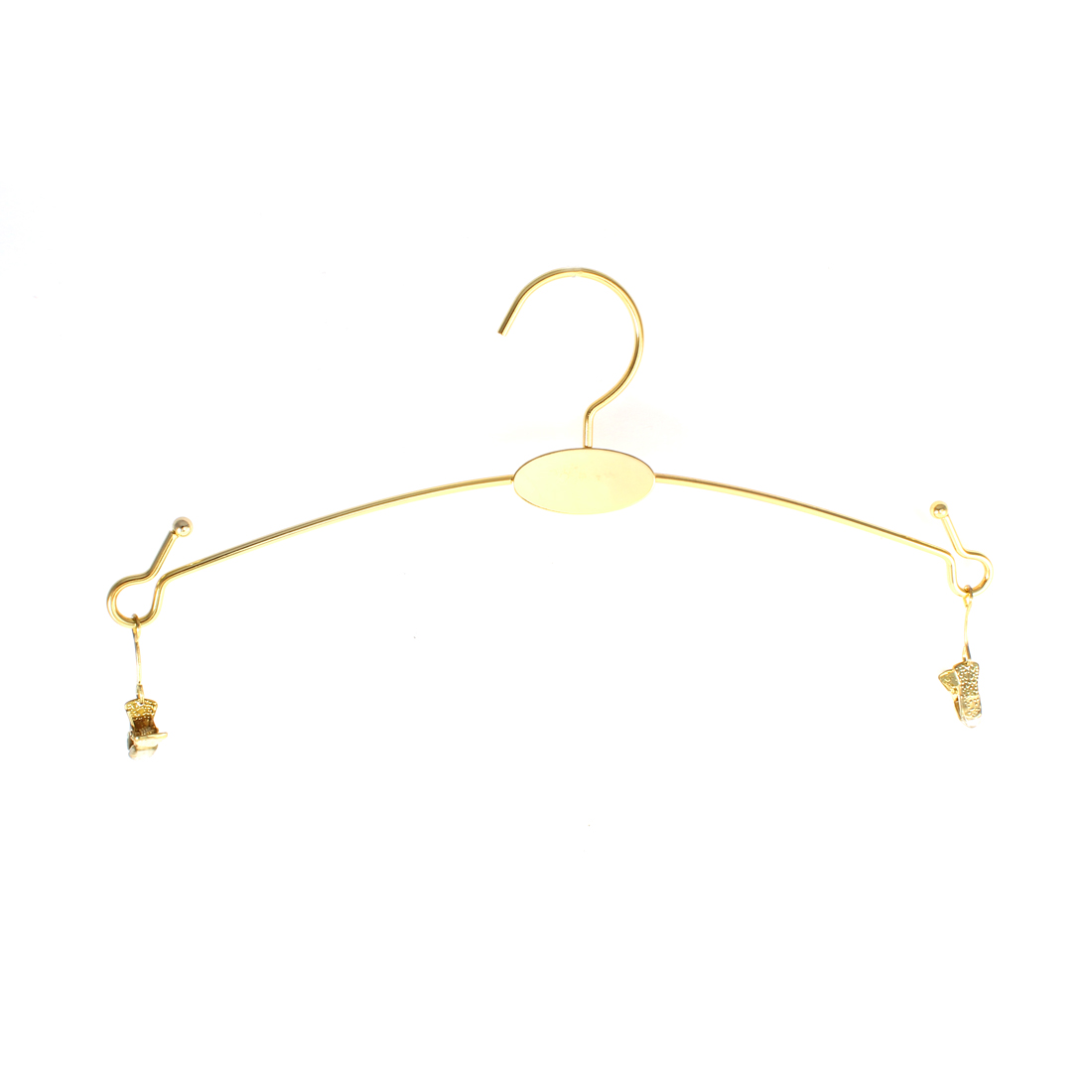 Gold Tone Metal Outdoor Indoor Garment Coat Clothes Hangers