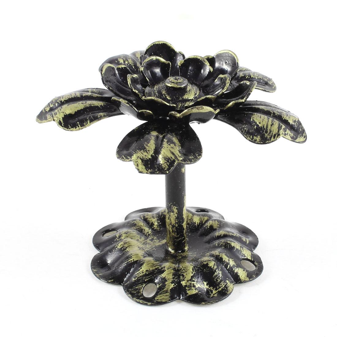 Bronze Tone Metal Lotus Accent Alloy Wall Hook Hanger