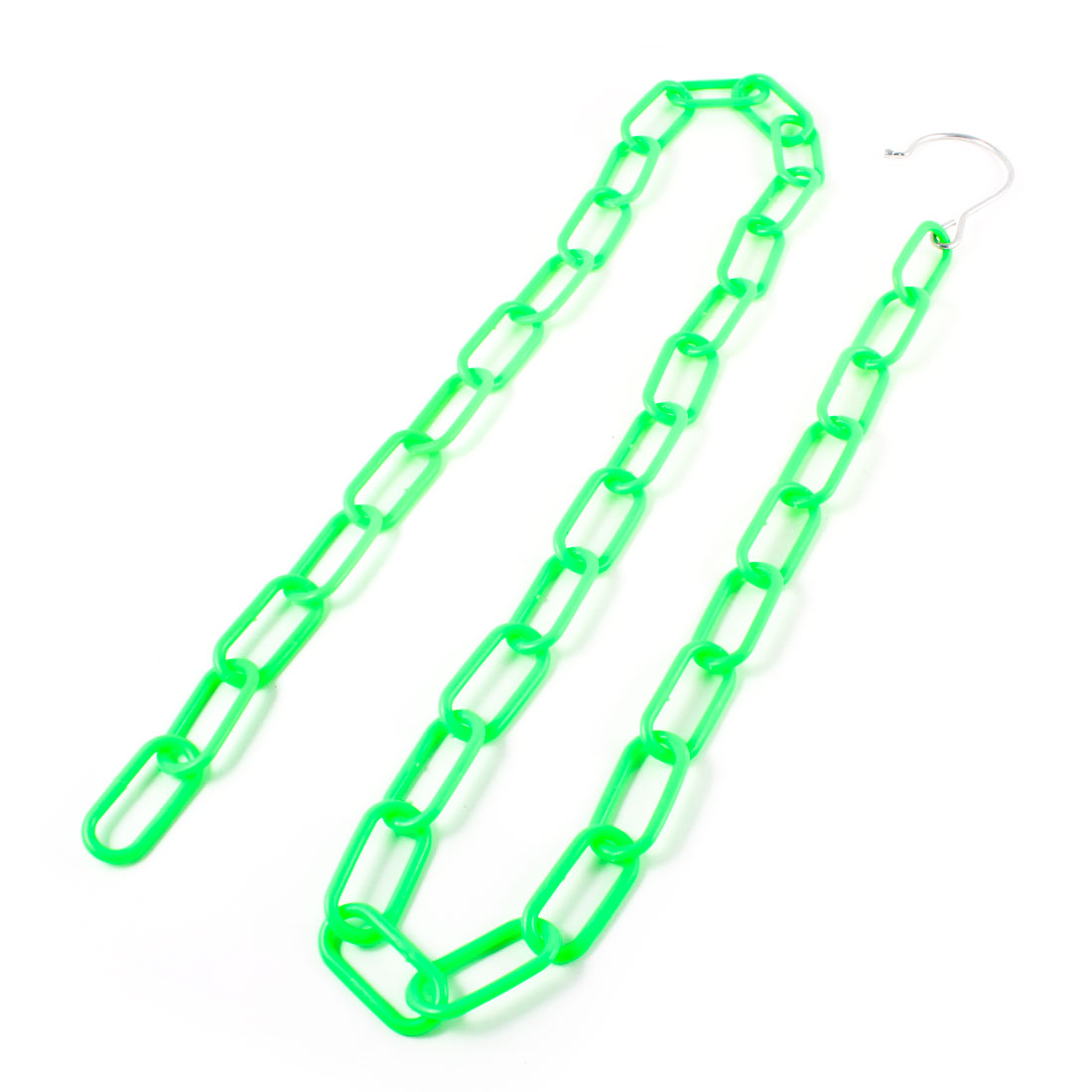 "47.2"" Long Green Plastic Multiple Clothes Market Shop Display Hanging Chain"