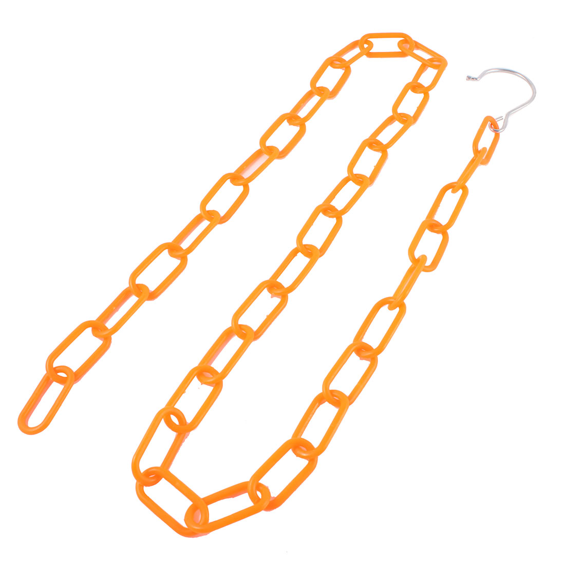 "47.2"" Long Orange Multiple Clothes Market Shop Display Hanging Chain"
