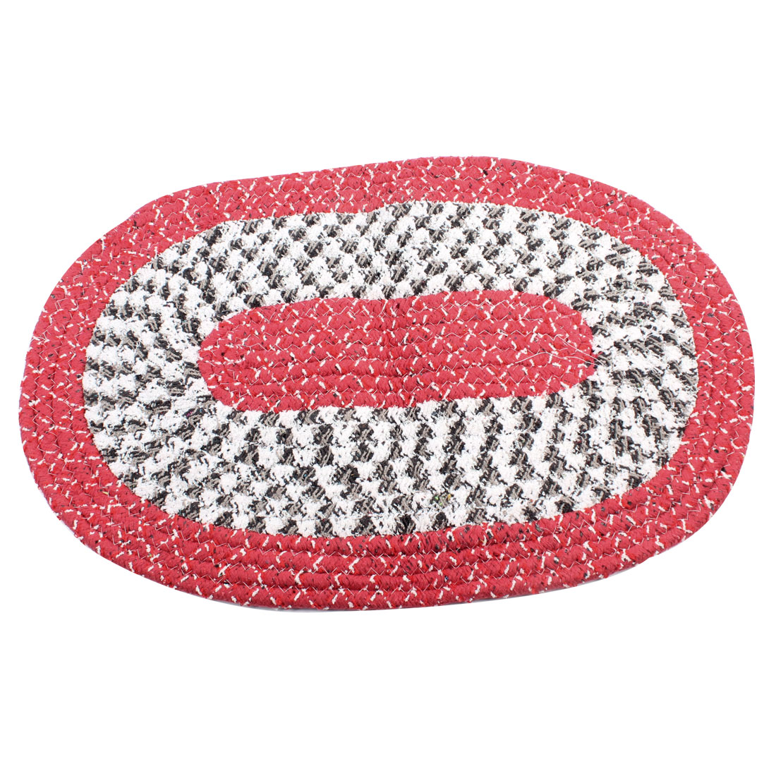 Multicolor Oval Shape Nylon Water Absorbent Front Door Floor Pad