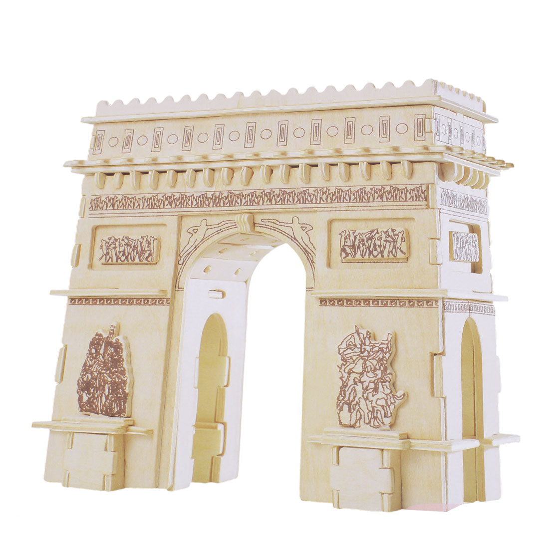 Kids Cubic Triumphal Arch of France Model Creative Wooden Puzzle Toy