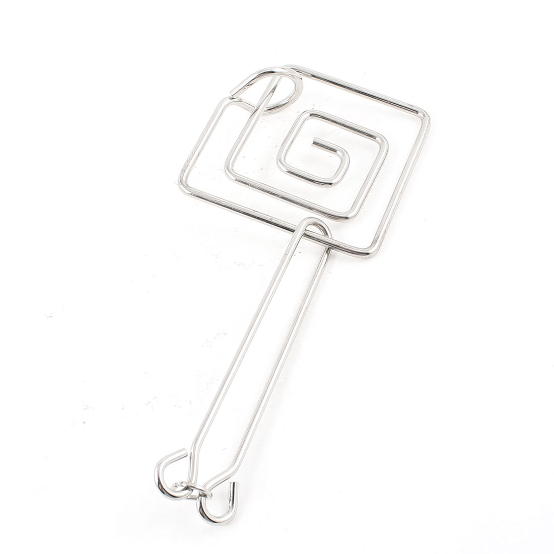 Adult Metal Ring Square Shape Puzzles IQ Brain Training Tester Pocket Toy