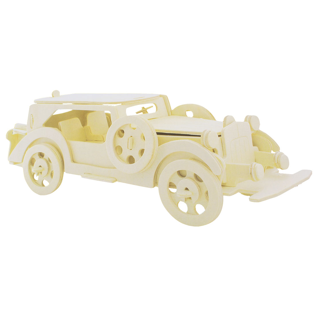 Cubic Rolling Automobile Tourer Car Model Collecting Wooden Puzzle Toy
