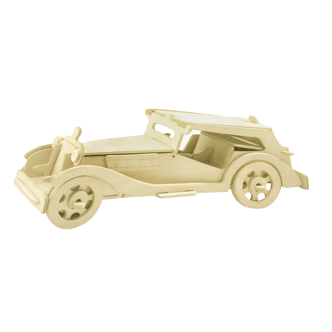 Cubic Rolling Automobile Tourer Two Seats Car Model Wooden Puzzle Toy