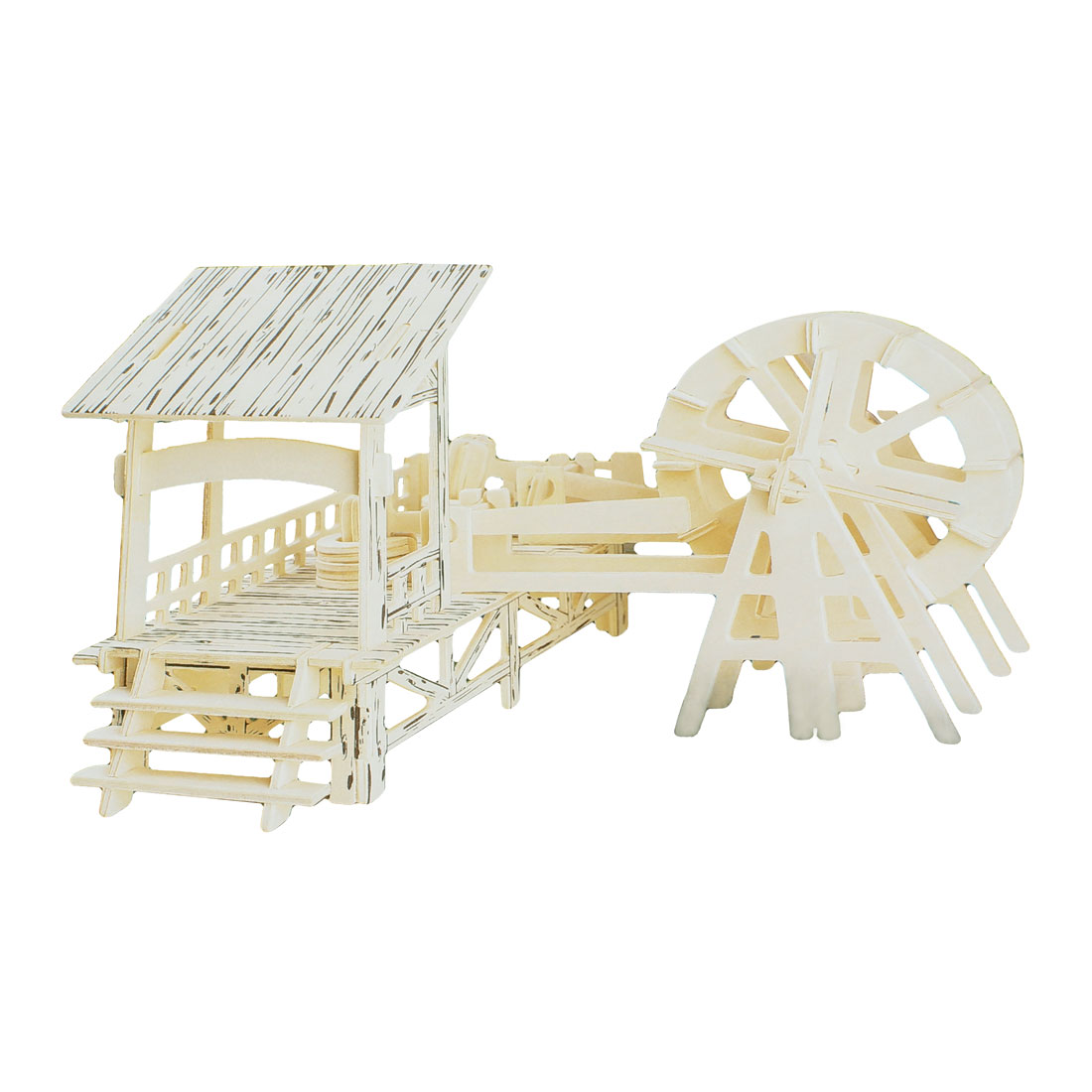 Kids Adults Water Mill Picture Creative Wooden Puzzle Toy