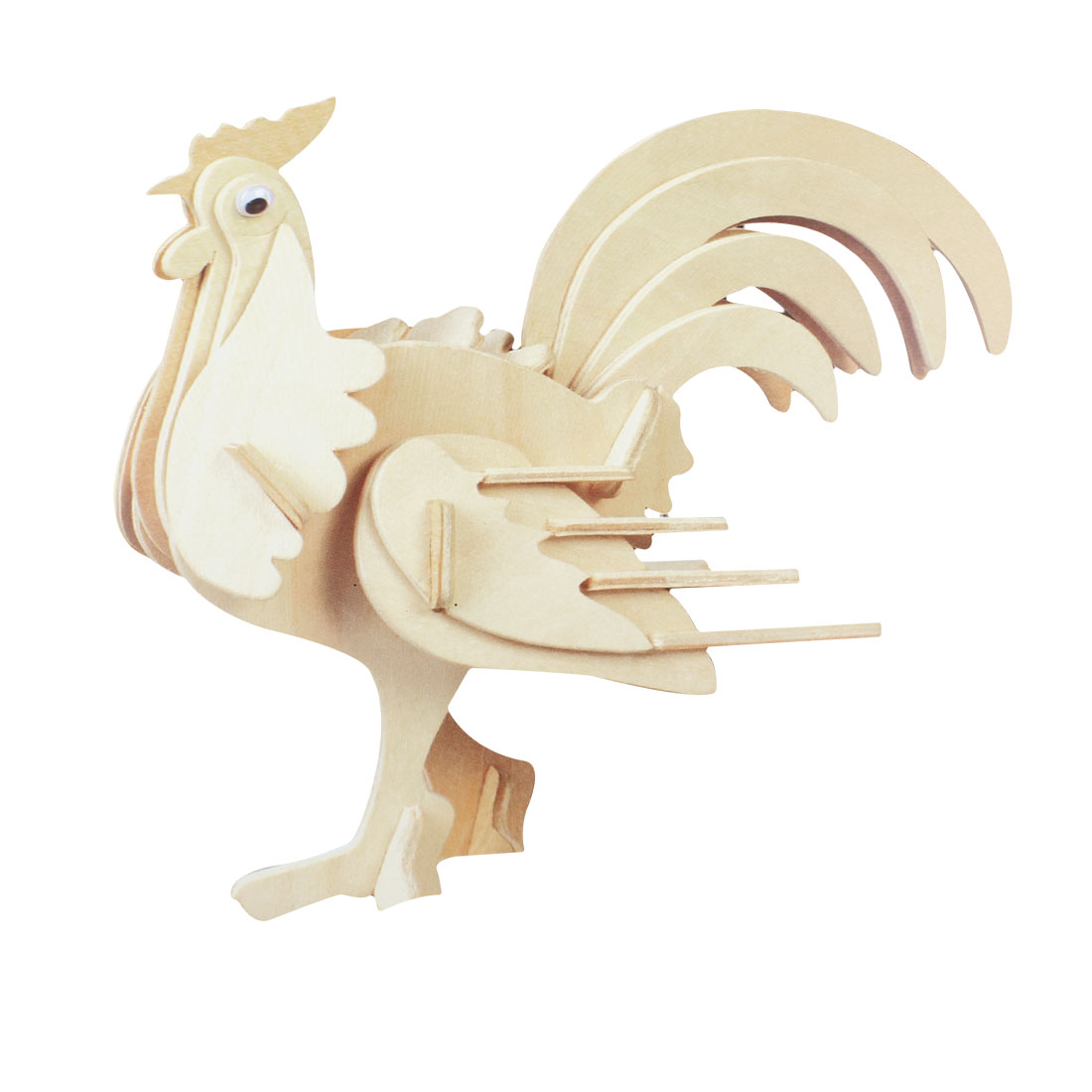 Cubic Rooster Model Collecting Wooden Puzzle Toy for Kids