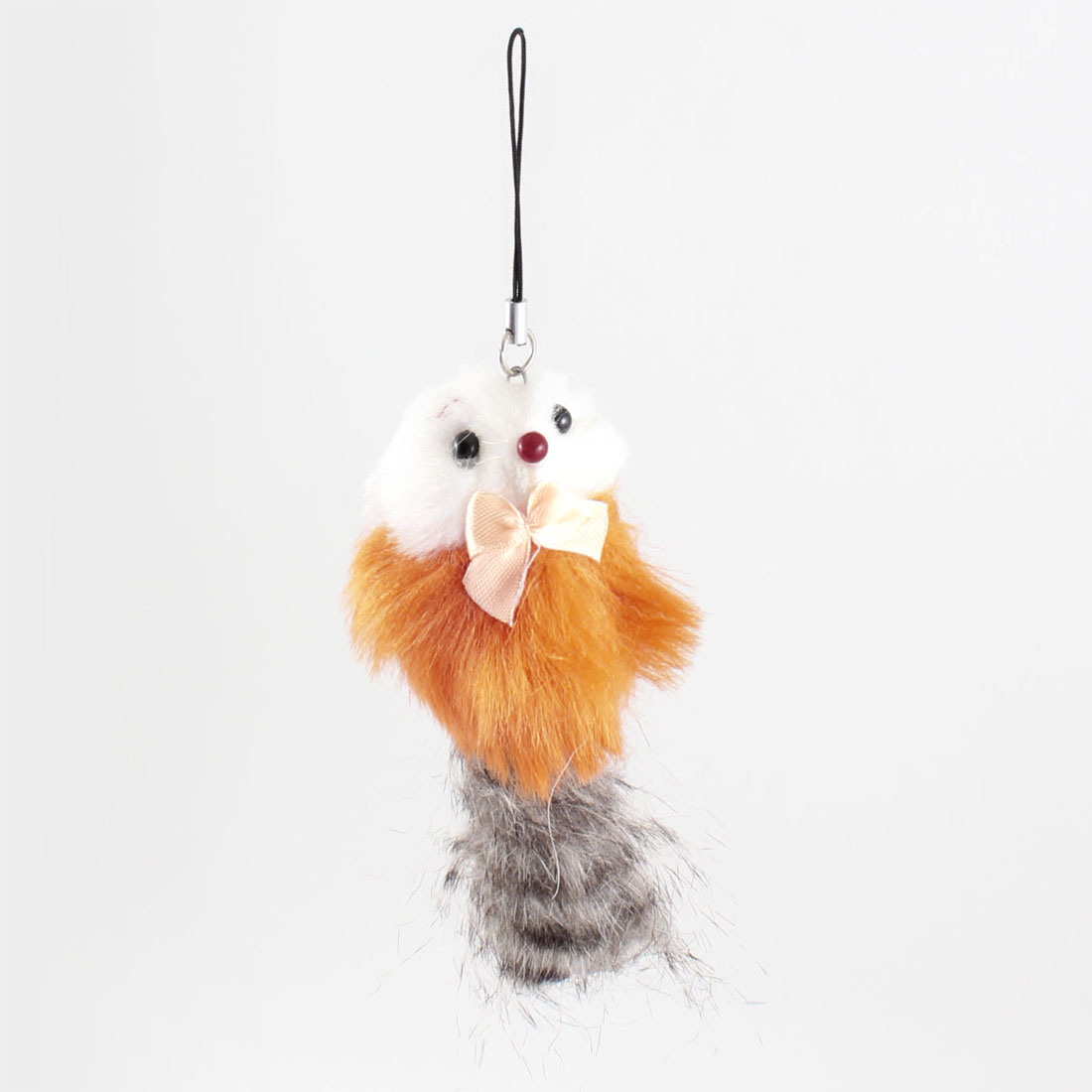 Orange Gray Feather Mouse Charm Strap Pendant for Phone Mp3 Mp4