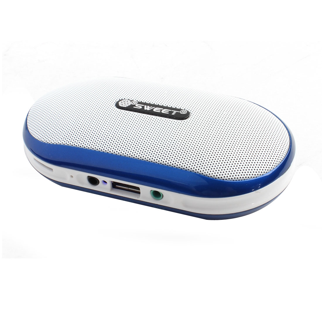 Computer Mobile Phone USB FM Radio 76-108MHZ White Blue Multifuction Mini Speaker