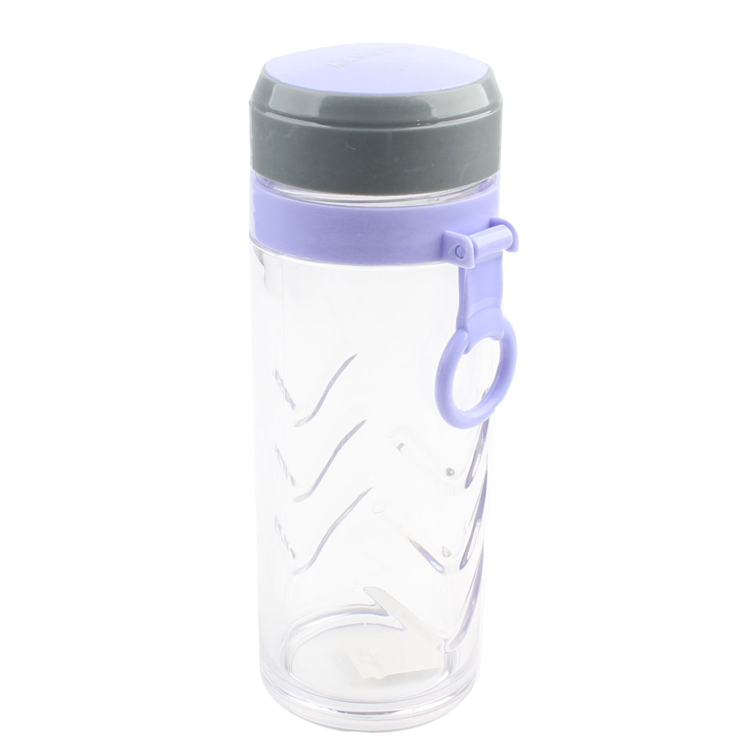 Home Office 600ml Capacity Slateblue Clear Water Drink Bottle Cup w Hand Ring