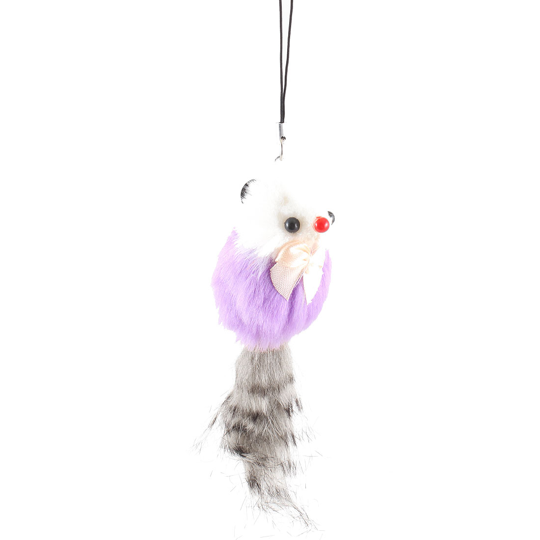 Purple Gray Feather Mouse Charm Strap Pendant for Phone Mp3 Mp4