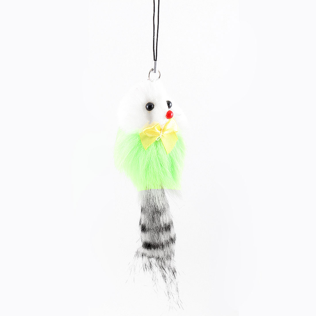 Light Green Gray Feather Mouse Charm Strap Pendant for Phone Mp3 Mp4