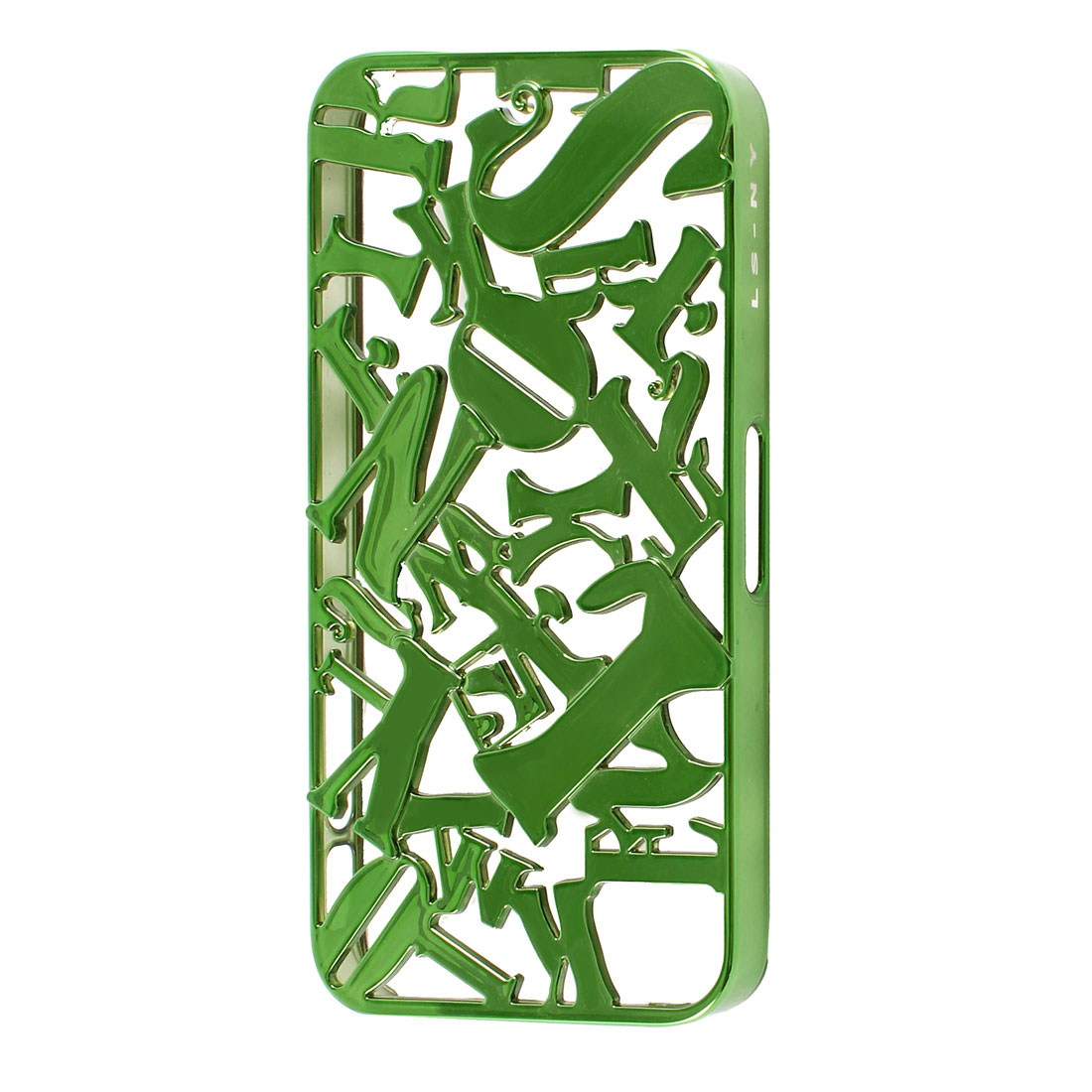 Green Plastic Cutt Off Letter Hard Back Case Cover Guard for iPhone 4 4S 4G 4GS