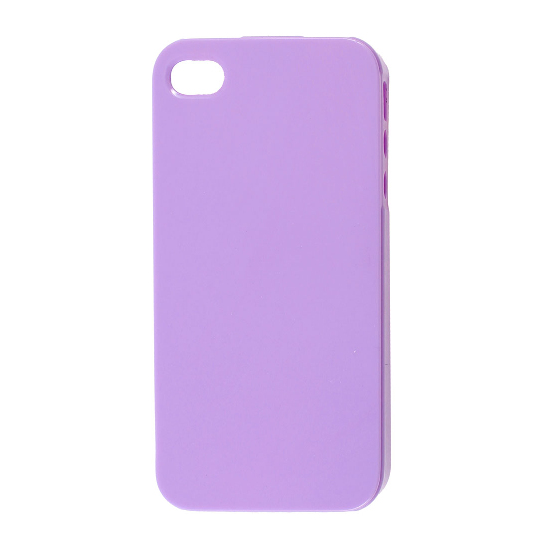 Solid Purple TPU Soft Plastic Protect Back Case Cover for iPhone 4 4G