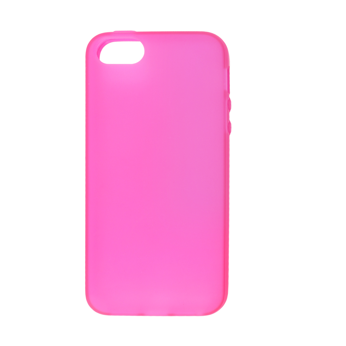 Solid Fuchsia TPU Soft Plastic Protect Back Case Cover for iPhone 5 5G