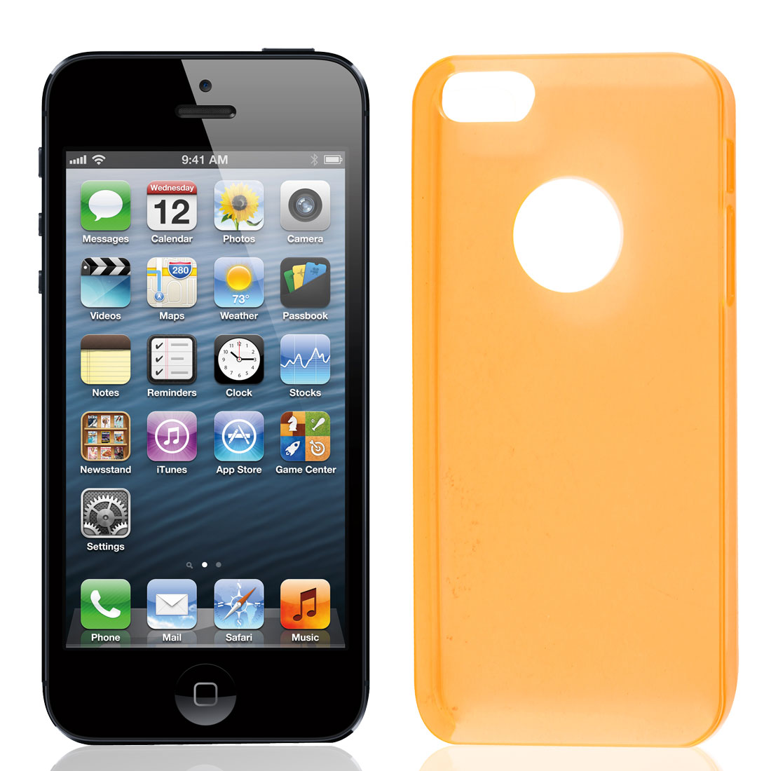 Solid Orange Plastic Protector Case Cover for iPhone 5 5G