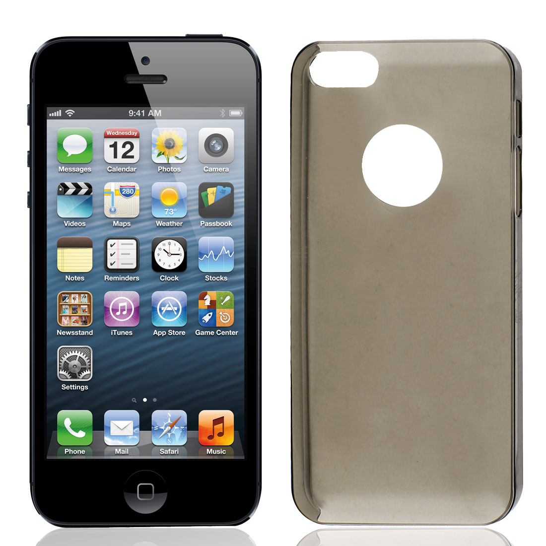 Solid Gray Plastic Protector Case Cover for iPhone 5 5G