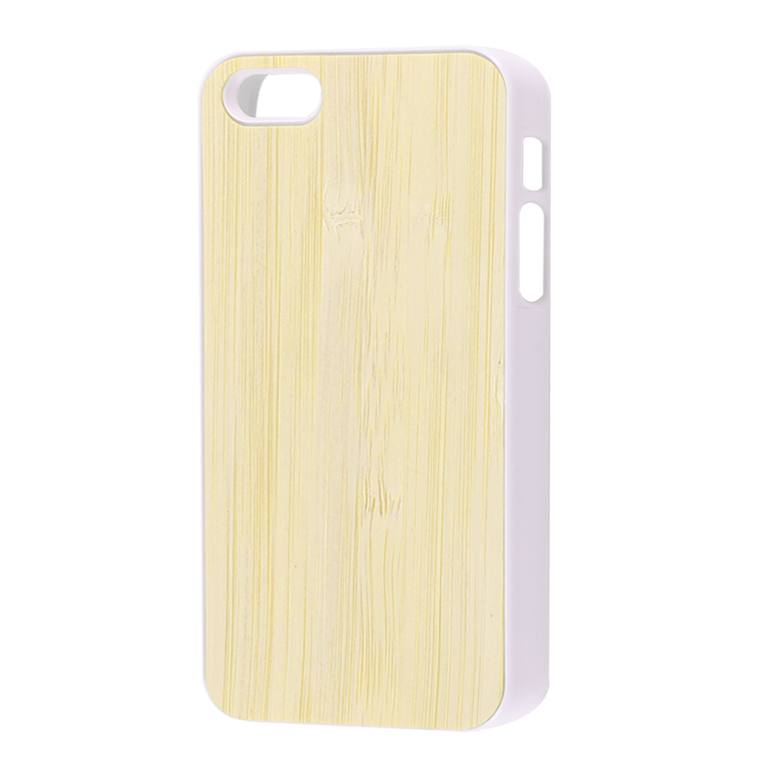 Bamboo Pattern Plastic Protector Case Cover White Beige for iPhone 5 5G