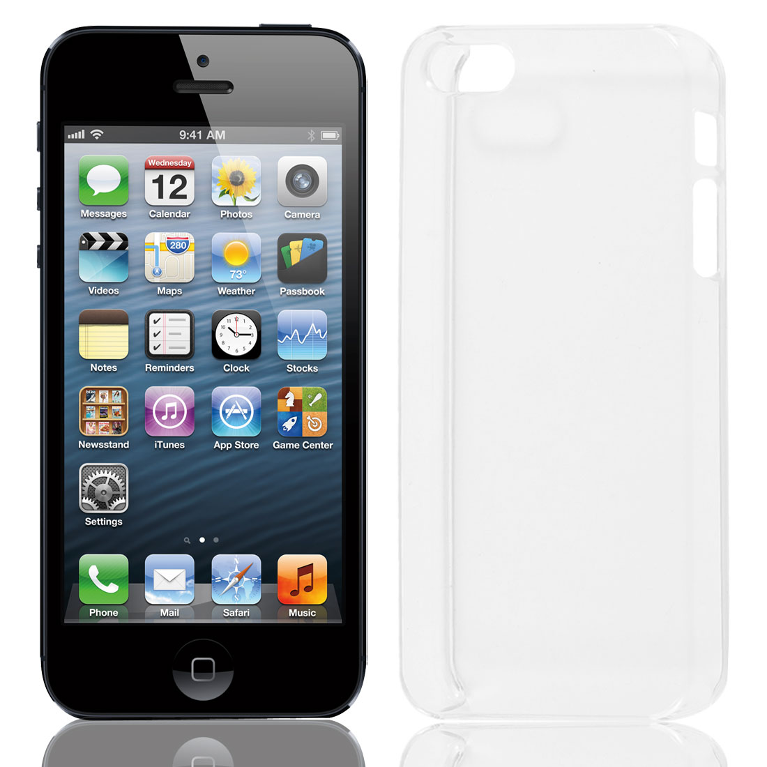 Solid Clear Plastic Protector Case Cover for iPhone 5 5G