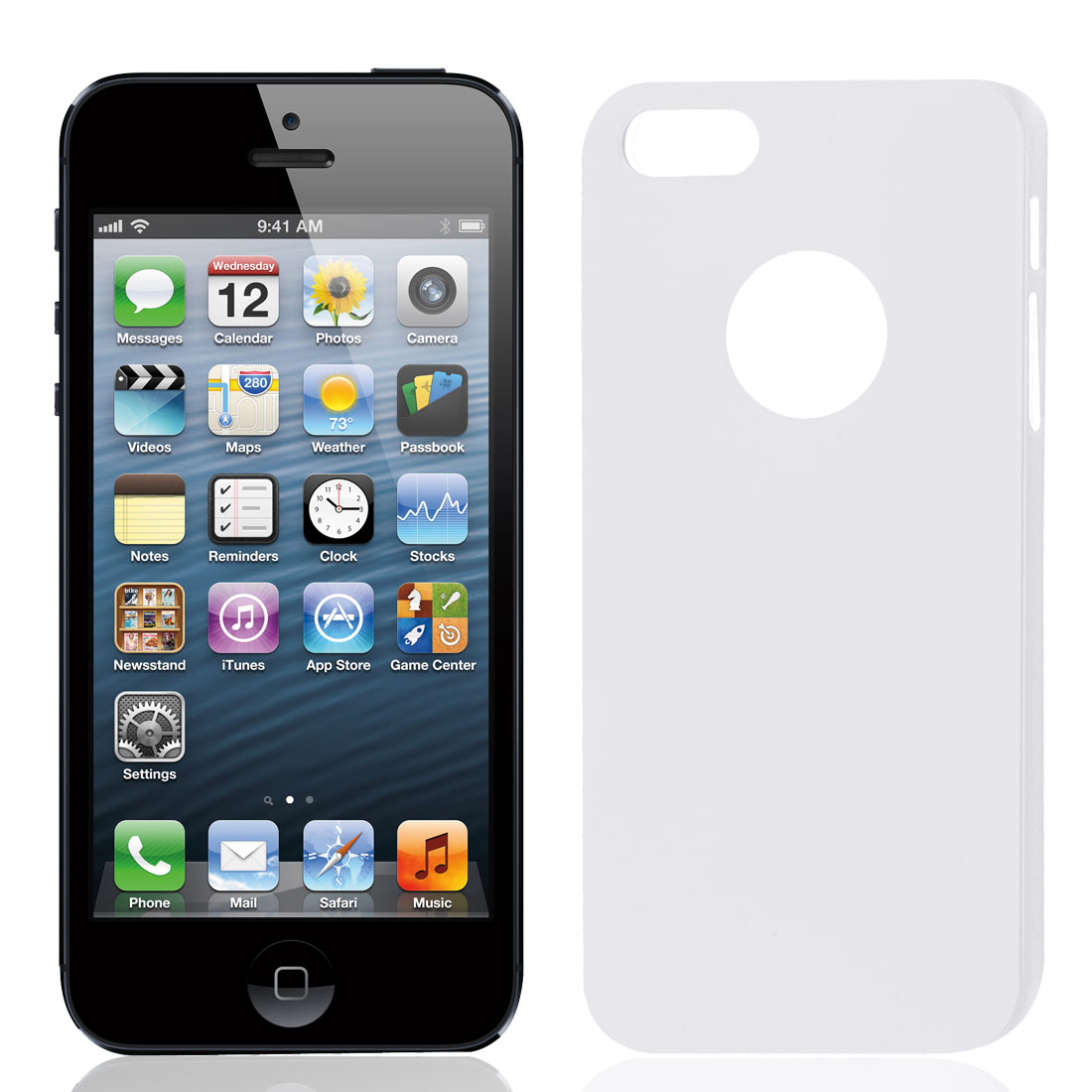 Solid White Plastic Protector Case Cover for iPhone 5 5G