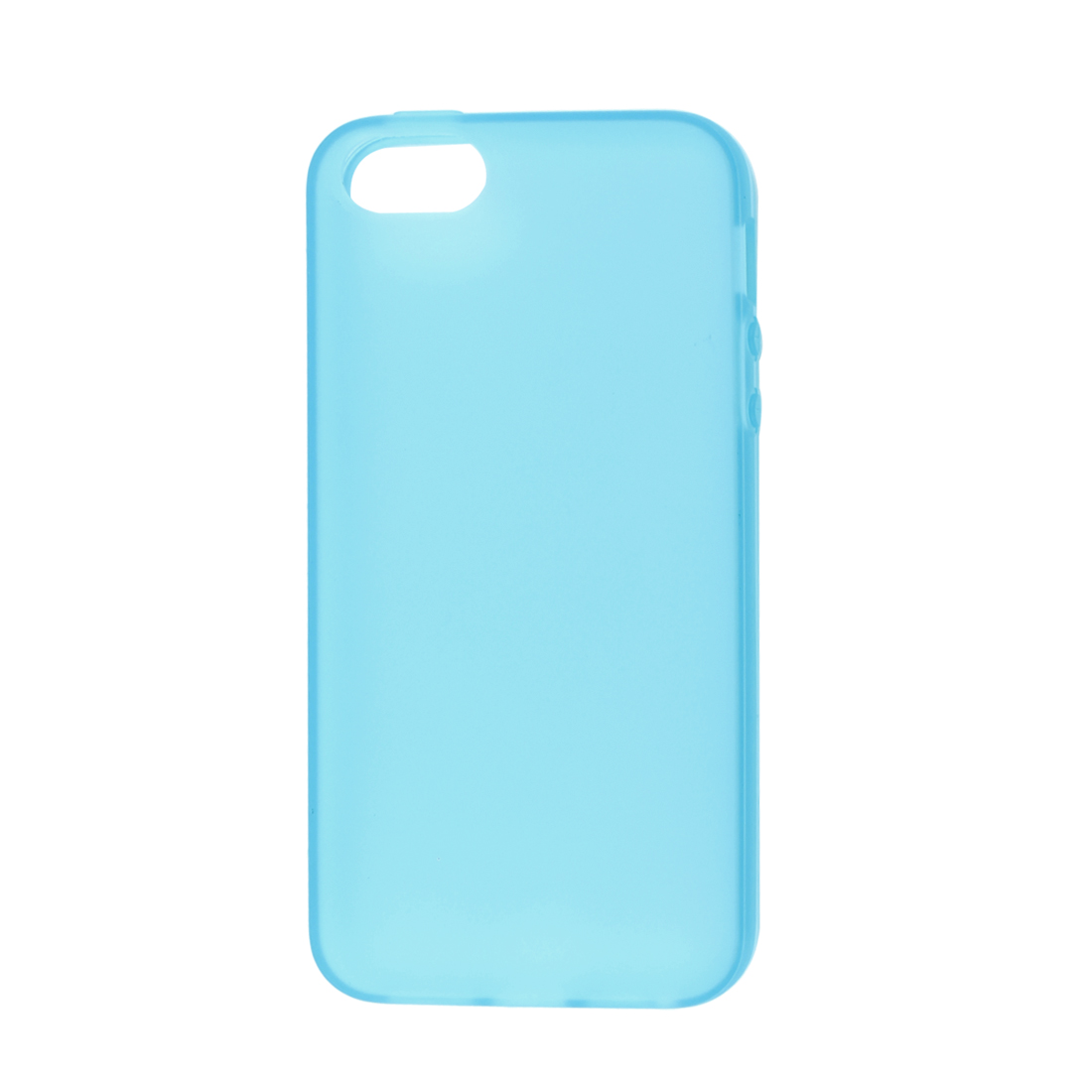 Solid Blue TPU Soft Plastic Protect Back Case Cover for iPhone 5 5G