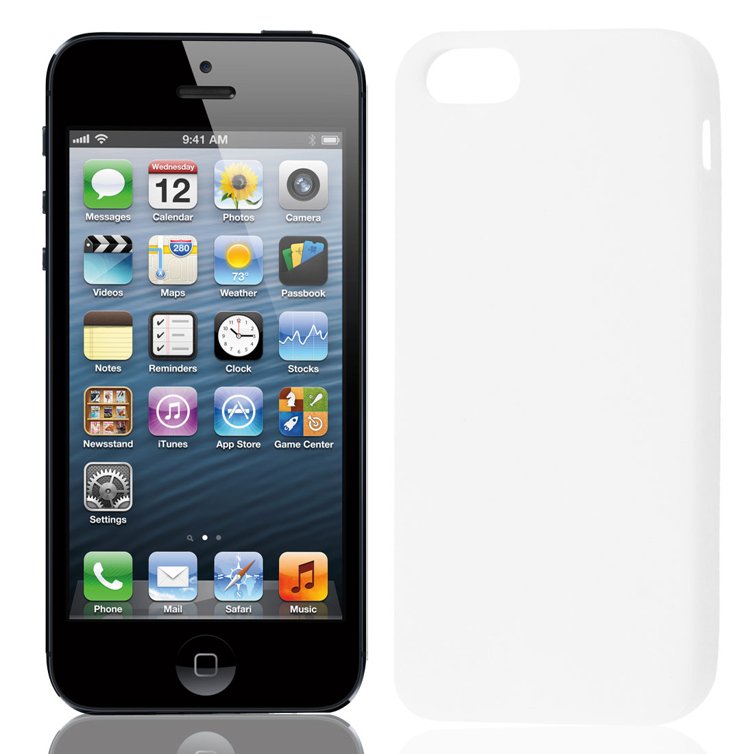 Solid White TPU Soft Plastic Protect Back Case Cover for iPhone 5 5G