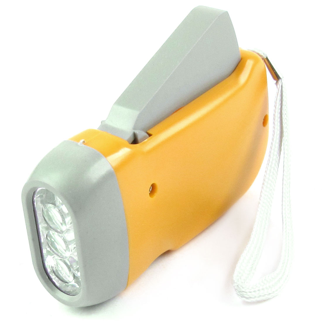 "Portable Home Orange Plastic LED Torch Light Flashlight 3.9"" Long"