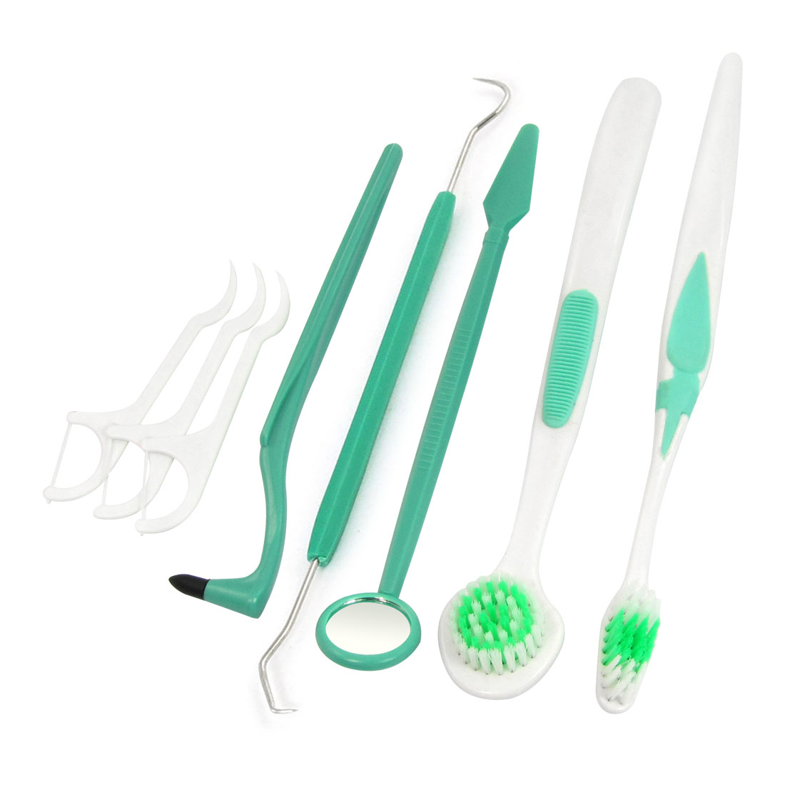 Home 8 in 1 Pack Mouth Mirror Clean Hygiene Dental Oral Care Tools Set