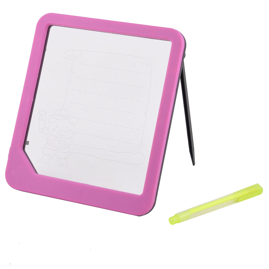 Child Flower Print Sparkle LED Message Writting Board Fuchsia w Highlighter