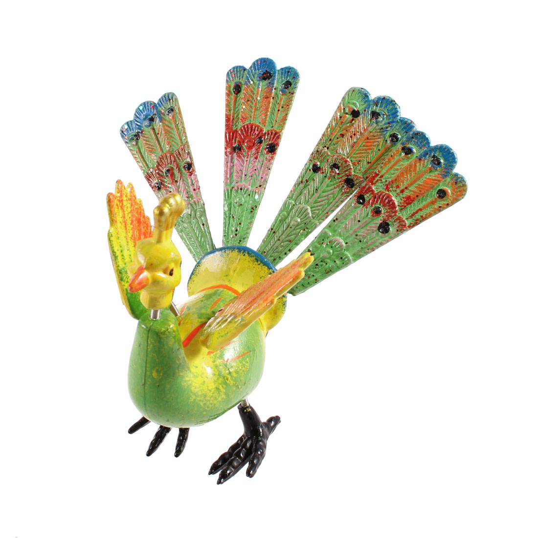 Fridge Refrigerator Artificial Peacock Magnetic Sticker Ornament Light Green Yellow