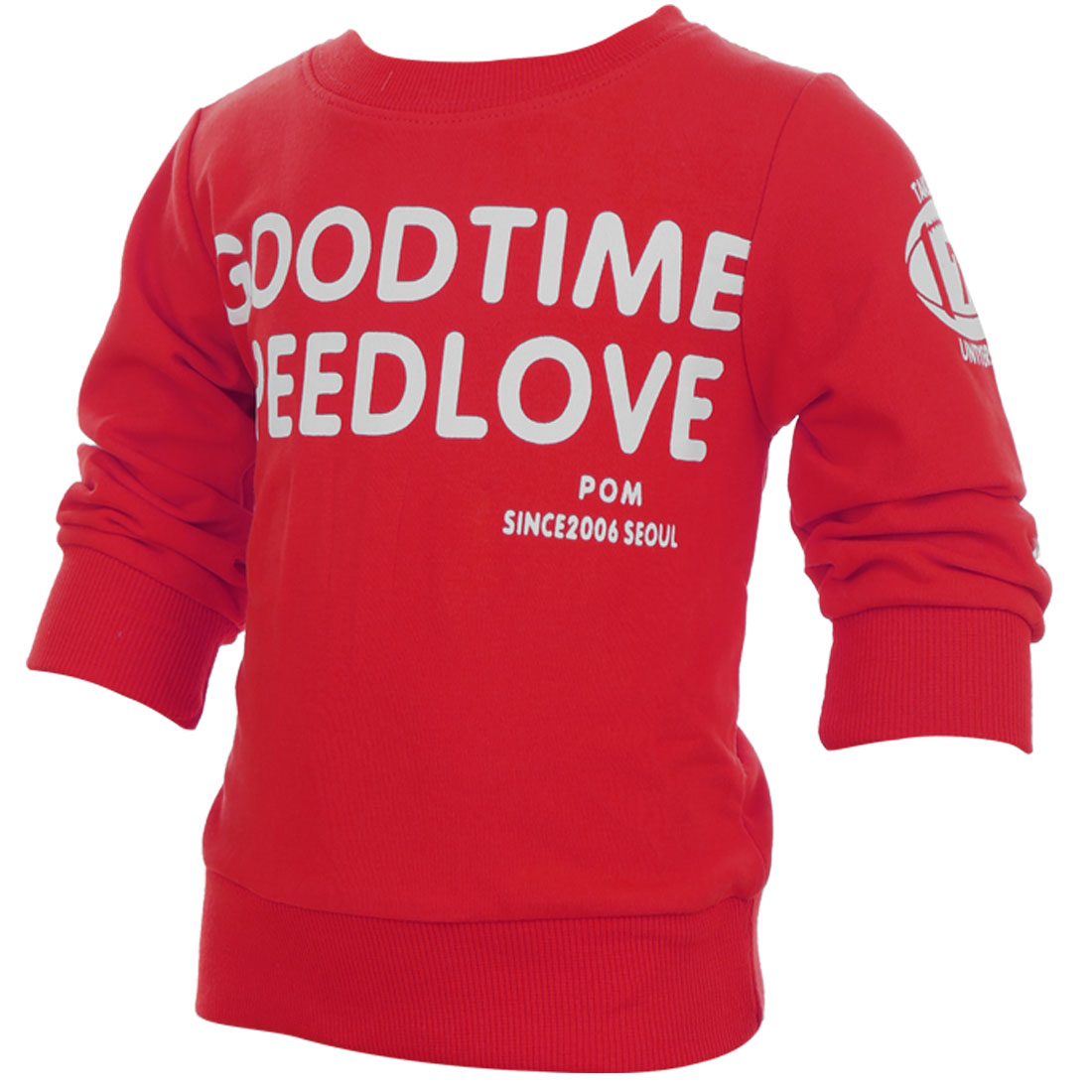 Kids Lovely Red Color Letters Prints Design Casual Spring Tee Shirt 4T