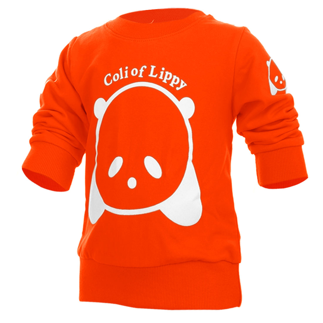 Kids Pullover Letter Prints Sweatshirt Orange 2T