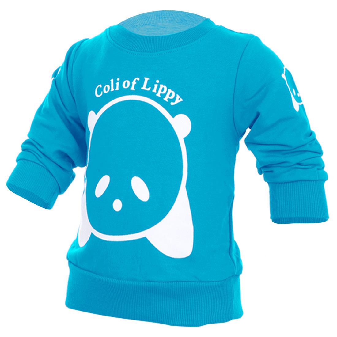 Kids Fashion NEW Long Sleeve Soft Sweatshirt Turquoise 2T