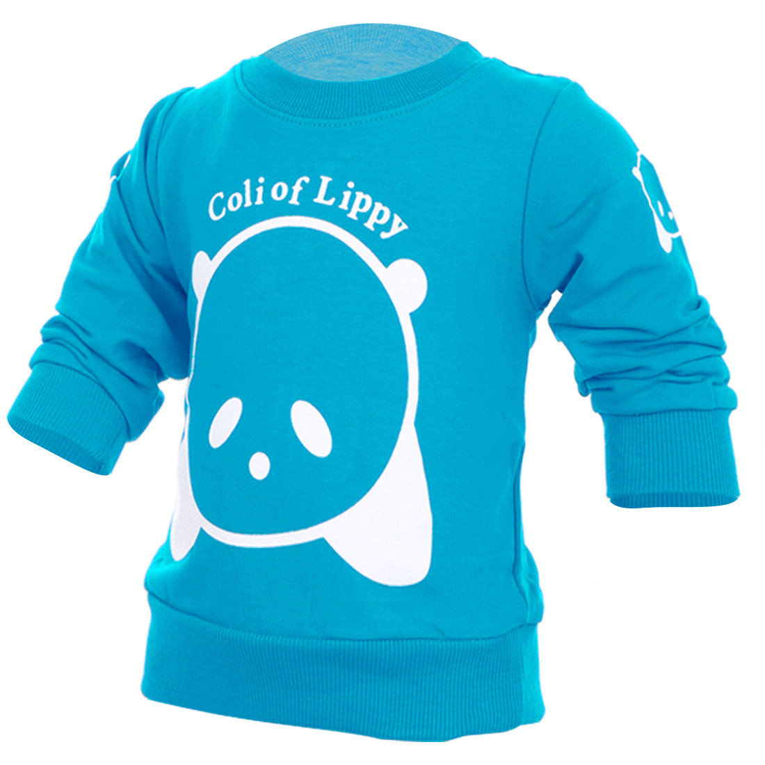 Boys Girls Stylish Round Neck Sweatshirt Turquoise 3T