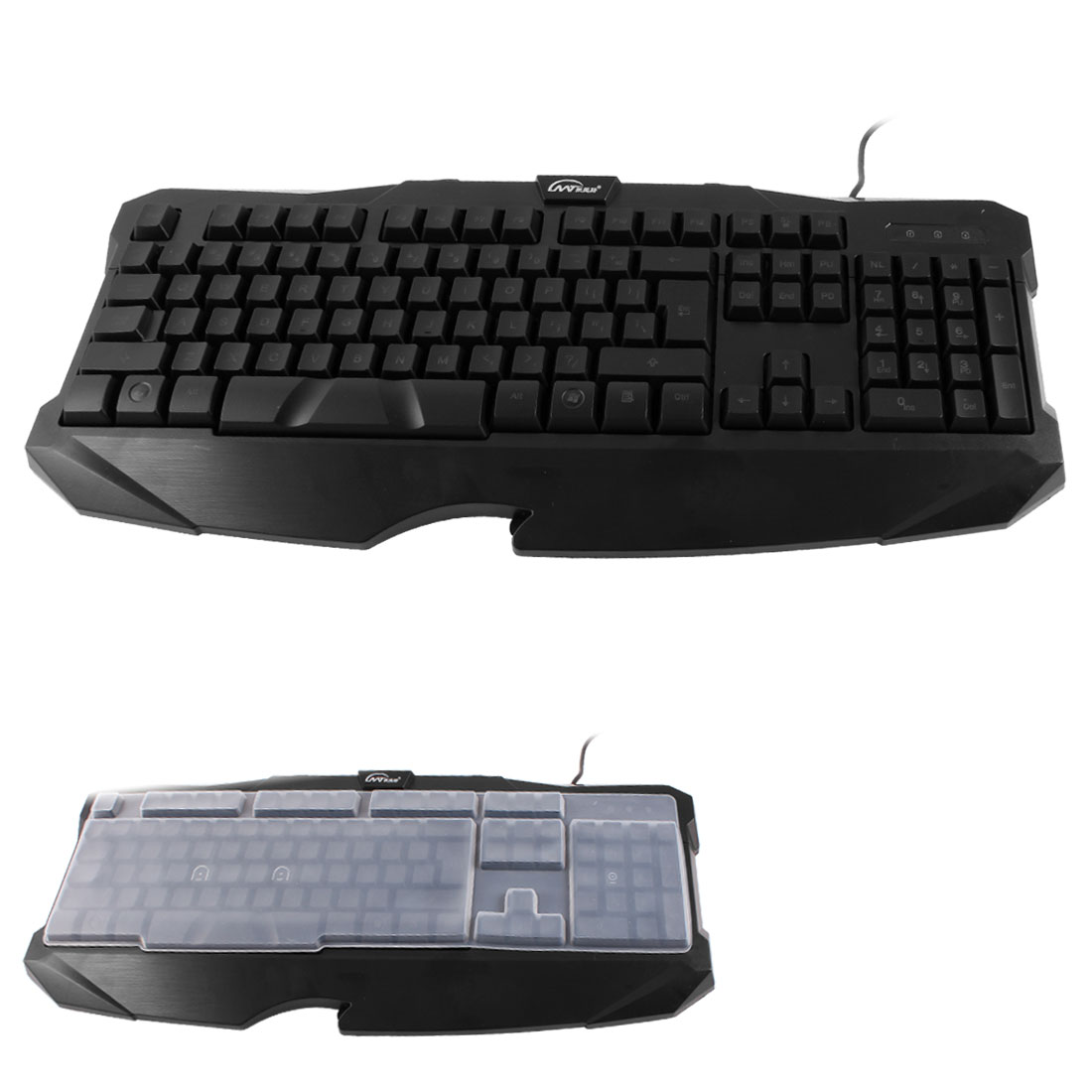 Blue LED Light Multimedia Wired USB PC Win8 Backlit Backlight Keyboard Black