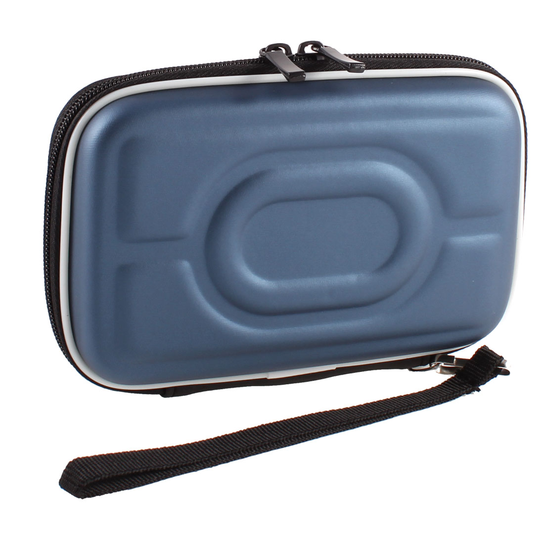 "Zip-up EVA Carrying Case Sleeve Bag Pouch Dark Blue for 2.5"" HDD Hard Drive Disk"