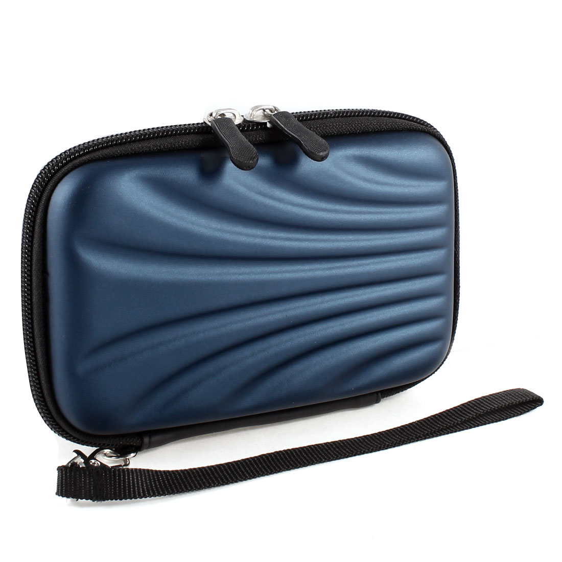 "Zip-up EVA Carrying Case Cover Sleeve Bag Dark Blue for 2.5"" Hard Drive Disk"