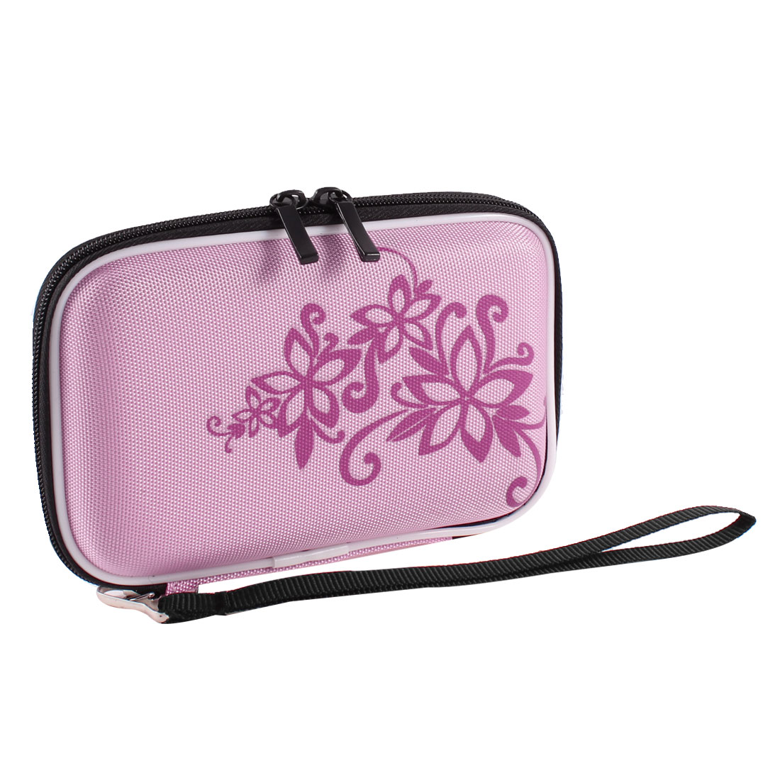 "Pink EVA Protect Case Bag Pouch Zipper Closure for 2.5"" HDD Hard Drive Disk"