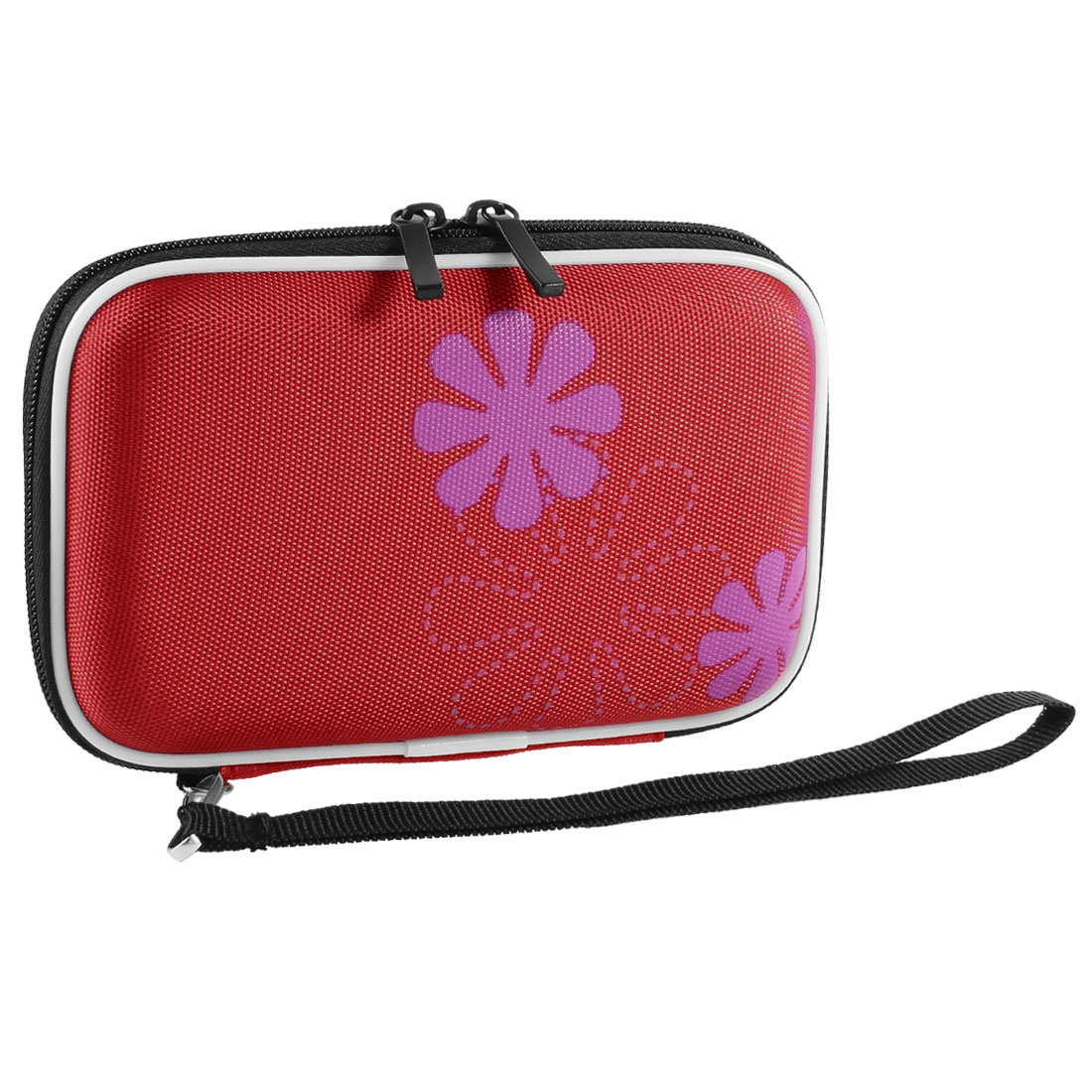 "Red EVA Protect Case Bag Pouch Zipper Closure for 2.5"" HDD Hard Drive Disk"