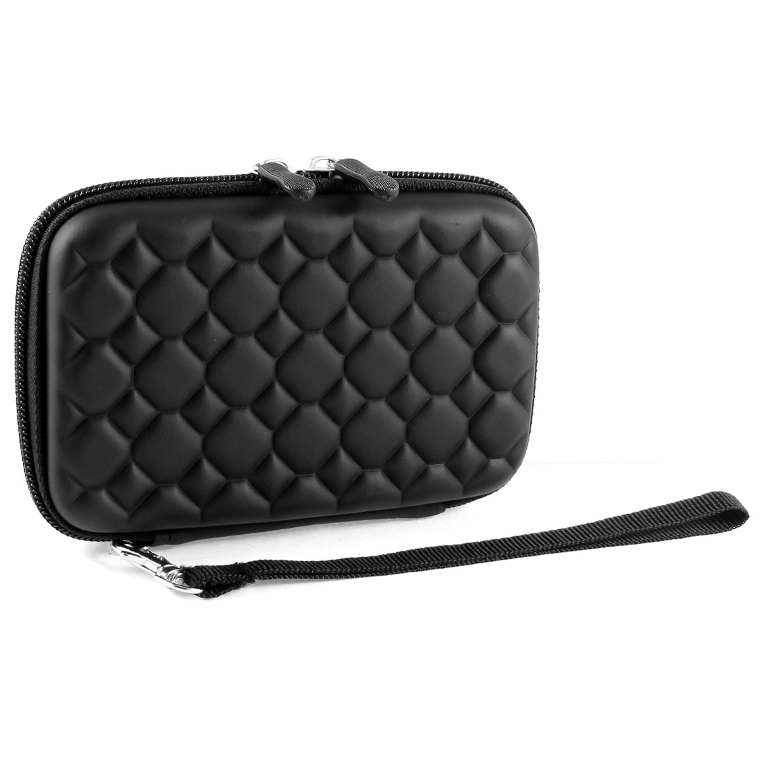 "Zipper Closure EVA Carry Case Cover Sleeve Bag Black for 2.5"" Hard Drive Disk"