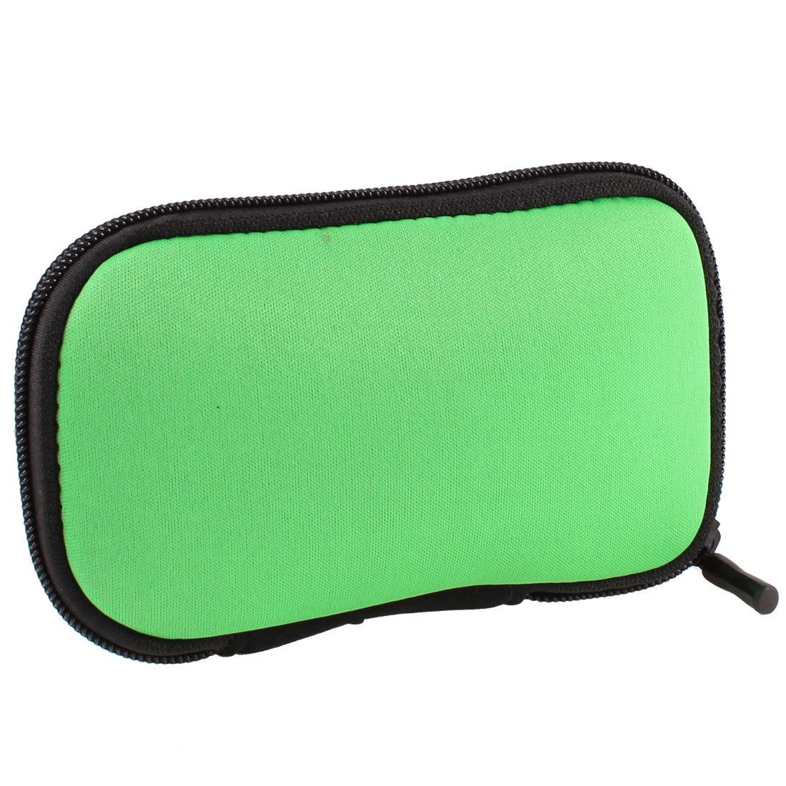 "Zip-up Neoprene Sleeve Bag Pouch Carry Case Green for 2.5"" HDD Hard Drive Disk"