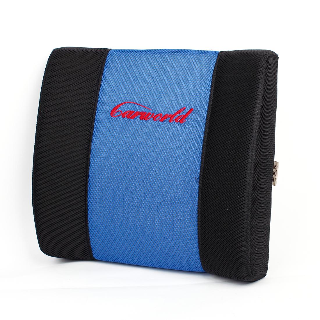 Vehicle Car Seat Sofa Lumbar Waist Back Relaxing Pillow Cushion Blue Black