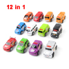 12 in 1 Assorted Color Jeep Police Car Ambulance Plastic Auto Toy for Child