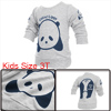Kids Long Sleeve Spring Autumn Sweatshirt Light Gray 3T