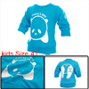 Boys Girls Stylish Pullover Long Sleeve Sweatshirt Turquoise 4T