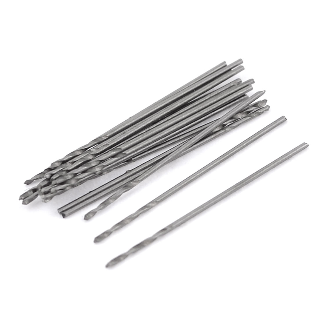 20 Pcs High Speed Steel 0.6mm Cutting Dia Twist Drilling Bit for Electric Drill