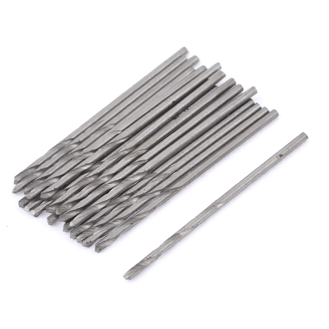20 Pcs HSS Straight Shank 0.8mm Cutting Diameter Twist Drilling Bit for Electric Drill